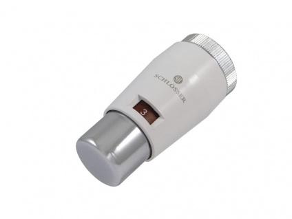 Schlösser Thermostatkopf Mini M30 x 1, 5 Heimeier weiss-chrom 6011 00030