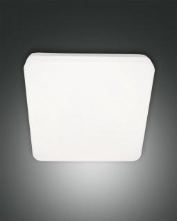LED Deckenaußenleuchte weiß Fabas Luce Folk 28x28cm 2150lm IP65 Stoßfest