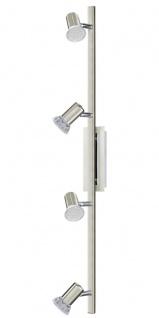 EGLO ROTTELO LED Spotbalken, 4-flg. GU10 nickel-matt, chrom