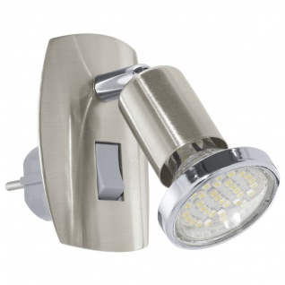 EGLO MINI 4 LED Steckdosenleuchte GU10 nickel-matt, chrom