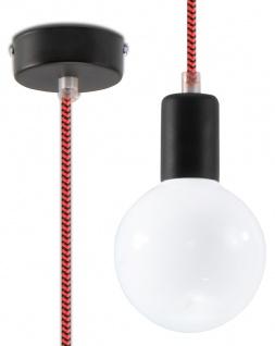 Sollux EDISON Pendelaufhang schwarz, rot 1-flg. E27