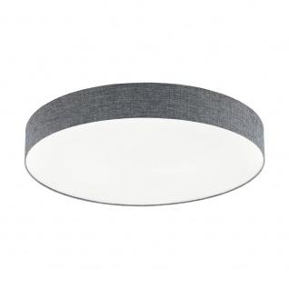 EGLO ROMAO LED Deckenleuchte Leinen grau, weiss 760mm