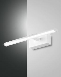 LED Spiegellampe weiß satiniert Fabas Luce Nala 540lm IP44 - Vorschau