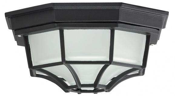 Rabalux Milano Außen Deckenleuchte 1x E27 schwarz