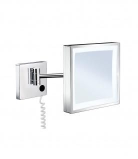 Smedbo Outline Kosmetikspiegel mit LED-Beleuchtung quadratisch FK472E
