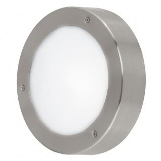 EGLO LED VENTO 2 Außen Wand & Deckenleuchte, IP44, 185mm edelstahl