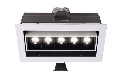 Deko Light Ceti 5 Adjust Einbaustrahler LED weiß-matt, schwarz 640lm 2900K >90 Ra 45° Modern