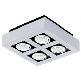 EGLO LOKE 1 LED Aufbauleuchte 4er, GU10 alu-gebürstet, chrom, schwarz