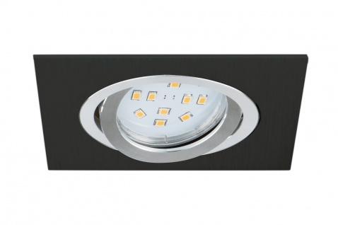 EGLO TERNI 1 LED Einbaulampe GU10 400lm 95x95mm eckig schwarz