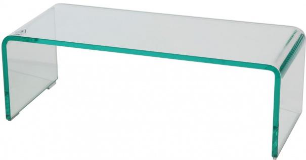 bhp TV Aufsatz aus Glas klar, 12mm formgebogenes Glas 60x25x20cm