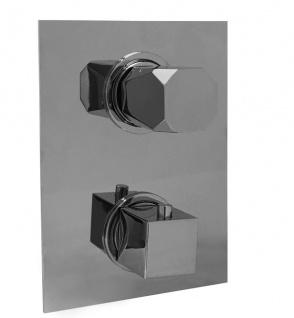 Maier Ikon Unterputz Thermostat Wannenfüll und Brausebatterie mit 2-Fach Umstellung gold glänzend 74.602