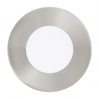 EGLO FUEVA 1 LED-Einbauleuchte 3er Set, rund, 85mm, nickel-matt