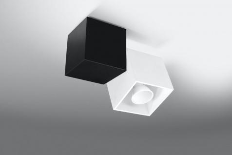 Sollux OPTIK Deckenlampe weiss, schwarz 1-flg. GU10