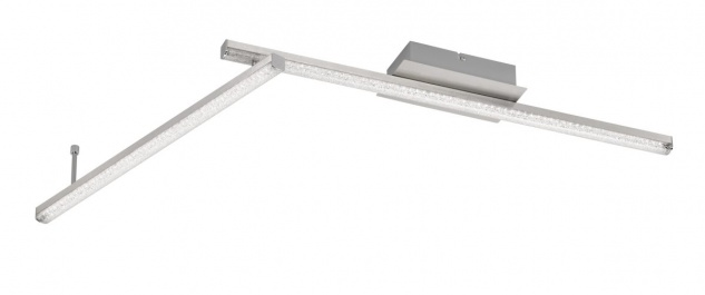 Wofi LED Deckenlampe AKRON nickel matt 1 Gelenk