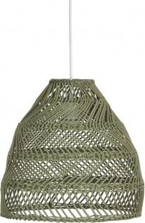 Hängelampe grün Rattan PR Home Maja 36cm E27