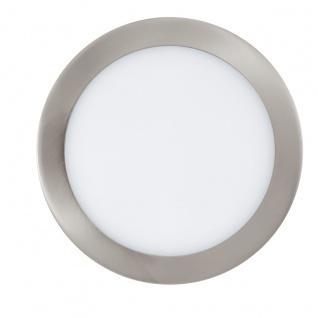 EGLO Connect FUEVA-C LED RGB Einbaulampe 225mm rund nickel-matt App Steuerbar