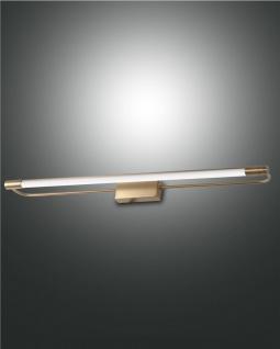 LED Spiegellampe messing satiniert satiniert Fabas Luce Rapallo 1470lm IP44