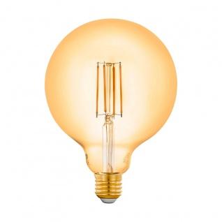 EGLO LED Leuchtmittel E27 G125 6W 650lm 2200K 320° amber App Steuerbar 125x172mm