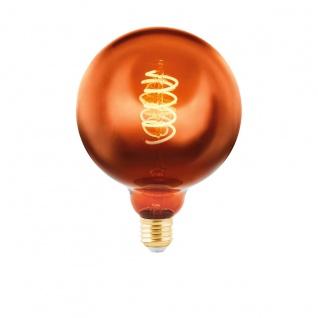 EGLO LED Leuchtmittel E27 G125 4W 50lm 2000K 300° kupferfarben dimmbar 125x170mm