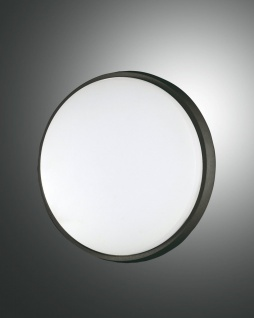 LED Deckenlampe außen schwarz Fabas Luce Olly 240mm 2300lm IP54