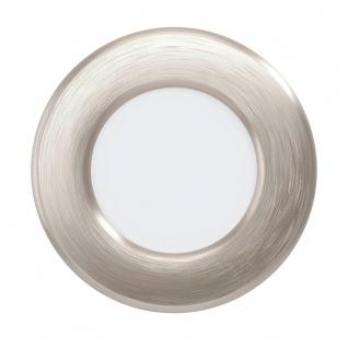 EGLO FUEVA 5 LED Einbauleuchte nickel-matt rund 86mm 360lm 4000K