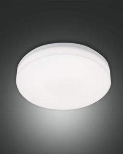 LED Deckenaußenleuchte weiß Fabas Luce Trigo 28cm 2150lm IP65 Stoßfest Bewegungsmelder