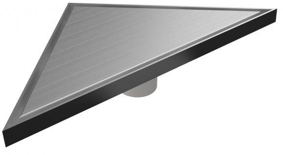 MERT Design Bodenablauf Dreieck Edel 215 x 215 x 304 mm Edelstahl