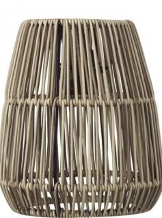 Lampenschirm Rattan für Außen grau beige PR Home Saigon 18cm für E27 Pendelaufhang