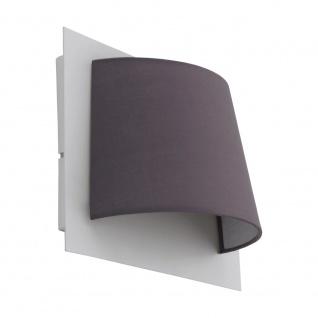 EGLO SERRAVALLE LED Wandleuchte Textil grau
