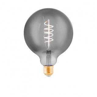 EGLO LED Leuchtmittel E27 G125 4W 100lm 2000K 300° schwarz-transparent dimmbar 125x170mm