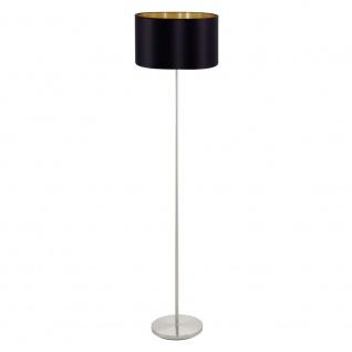 EGLO MASERLO Textil Stehleuchte, 1-flg., E27, nickel-matt, schwarz, gold