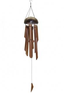 Deko Bambus Windspiel 10x50cm naturfarbend