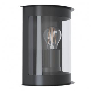 EGLO DARIL 1 Wandaußenleuchte schwarz, klar E27 IP44 19, 5x24x11cm dimmbar