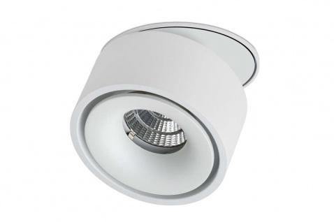Lumexx Semi LED Einbauleuchte weiß/weiß 10W, 680lm, 2700k