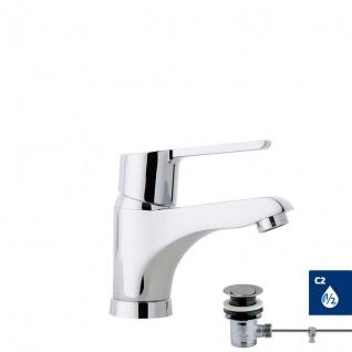 Ramon Soler Aquanova Fly Moderne Einhebel Waschtischarmatur mit Zugstangenablauf 550102VA