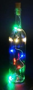 Flaschenkorken Lichterkette 10 bunte LED a 10 cm für Innen Batterie inkl.