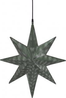Weihnachtsstern aus Metall mit Löchern grün von PR Home Capella 60x51x12cm E27 3, 5m Textil Kabel