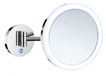 Smedbo Outline Kosmetikspiegel mit Dual LED-Beleuchtung PMMA rund FK486H