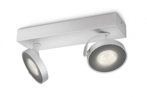 Philips myLiving LED Spot Clockwork 2flg. 531724816, 1000lm, Aluminium lackiert