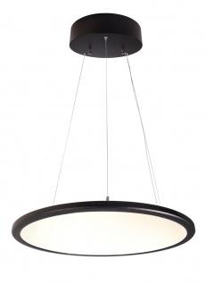 Deko Light LED Panel transparent rund Pendelleuchte schwarz 5100lm 3000K >80 Ra 150° Modern