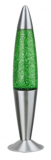 Rabalux Glitter Lavalampe 1x E14 grün, silber
