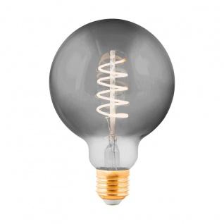 EGLO LED Leuchtmittel E27 G95 4W 100lm 2000K 300° schwarz-transparent dimmbar 95x140mm