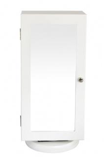 bhp Schmuckschrank, MDF weiss, 2 Türen und 1 Spiegel, Drehsockel