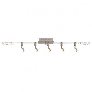 LED Seilsystem stahl blank Näve Tony Spot 2x5m 5 flg. 320lm