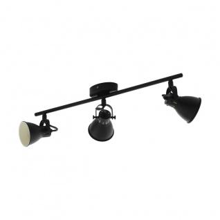 EGLO SERAS 2 LED Retro Deckenstrahler schwarz 3x GU10 59, 5x6, 5cm