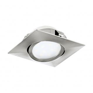 EGLO PINEDA LED Einbauspot 84x84, 1-flg., nickel-matt