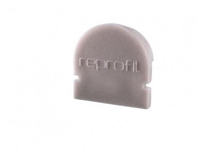 Deko Light Endkappe R-AU-01-10 Set 2 Stk für Profil grau