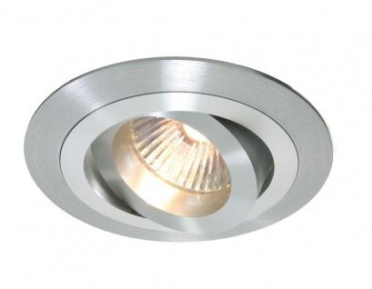 Deko Light Einbaustrahler silber-matt, silber 1 flg. GU5, 3 / MR16 Modern