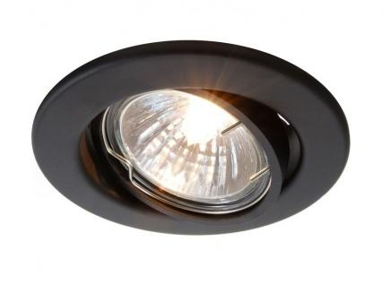 Deko Light Einbaustrahler schwarz-matt 1 flg. GU5, 3 / MR16 Modern