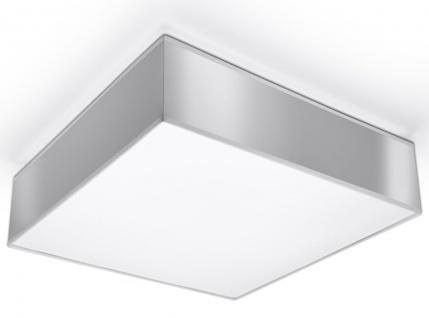 Sollux HORUS moderne Deckenlampe eckig silber 2-flg. E27